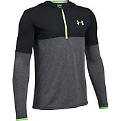 Under Armour Boys' Threadborne Siro Quarter-Zip Hooded Long Sleeve Shirt