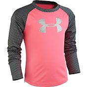 Under Armour Little Girls' Shimmer Raglan Long Sleeve Shirt