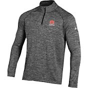 Under Armour Men's Auburn Tigers Grey UA Tech Quarter-Zip Shirt