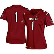 Under Armour Women's South Carolina Gamecocks #1 Garnet Replica Football Jersey