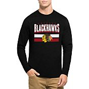'47 Men's Chicago Blackhawks Club Black Long Sleeve T-Shirt