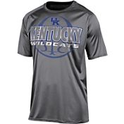 Champion Men's Kentucky Wildcats Grey High Impact Basketball T-Shirt