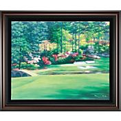 Golf Gifts & Gallery Augusta 12th Hole Canvas Framed Photo