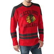 G-III Men's Chicago Blackhawks Opponent Red Long Sleeve T-Shirt