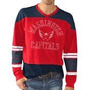 G-III Men's Washington Capitals Slub Jersey Red Long Sleeve T-Shirt