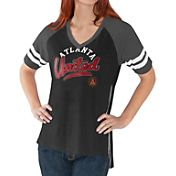 G-III For Her Women's Atlanta United Fastball Black T-Shirt