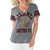 G-III For Her Women's Atlanta United Triple Play Grey T-Shirt
