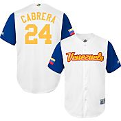 Majestic Men's Replica 2017 WBC Venezuela Miguel Cabrera #24 Cool Base Jersey