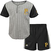 Majestic Toddler Pittsburgh Pirates Batter Up Shorts & Top Set