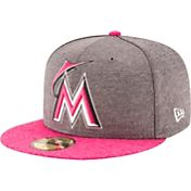 New Era Men's Miami Marlins 59Fifty 2017 Mother's Day Authentic Hat