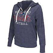 Touch by Alyssa Milano Women's New England Patriots Tri-Blend Full-Zip Navy Hoodie
