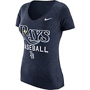 Nike Women's Tampa Bay Rays Practice Navy Tri-Blend V-Neck T-Shirt