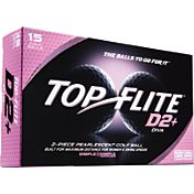 Top Flite D2+ Diva White Golf Balls – 15-Pack – Prior Generation